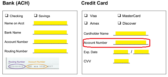 Free Credit Card (ACH) Authorization Forms - Word | PDF
