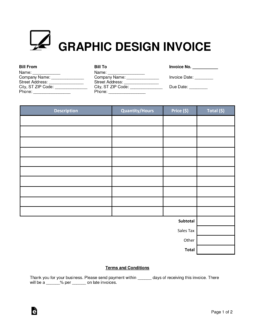 Free Graphic Design Invoice Template Word Pdf Eforms Free