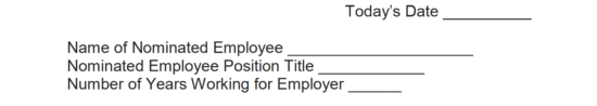 Free Employee of the Month Nomination Form - Word | PDF | eForms ...