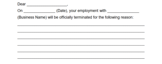 Step 8 U2013 Give The Specific Reason Or Reasons This Individualu0027s Employment  Is Being Terminated On The Blank Lines Provided.  Free Employee Termination Form
