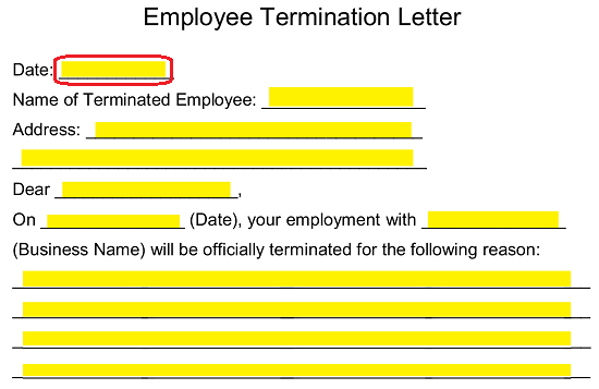 Free Employee Termination Letter Template Pdf Word