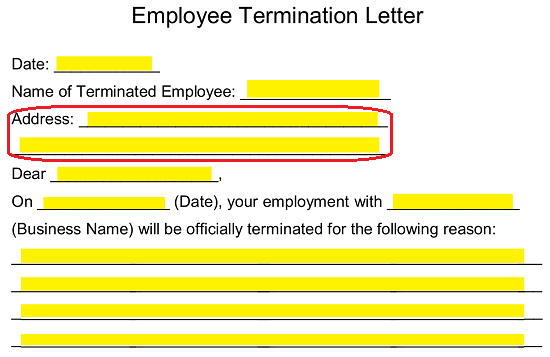 picture about Printable Employee Termination Form identified as Cost-free Staff Termination Letter Template - PDF Phrase