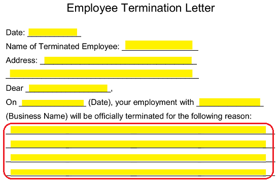 Free Employee Termination Letter Template - PDF | Word | eForms