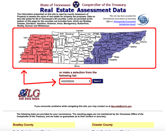 shelby county tennessee property search