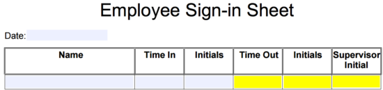 employee sign in sheet template eforms free fillable forms