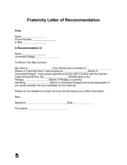 sorority recommendation letter free fraternity letter of recommendation template with 42795