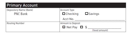 Free PNC Bank Direct Deposit Authorization Form - PDF | eForms