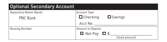 Free PNC Bank Direct Deposit Authorization Form - PDF | eForms ...