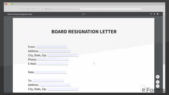 Resignation Letter Non Profit Organization from eforms.com