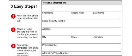 Free Key Bank Direct Deposit Authorization Form - PDF   eForms ...