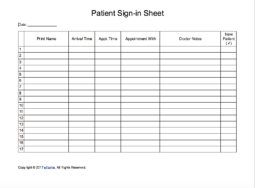 patient sign in sheet extended template eforms free fillable forms. Black Bedroom Furniture Sets. Home Design Ideas