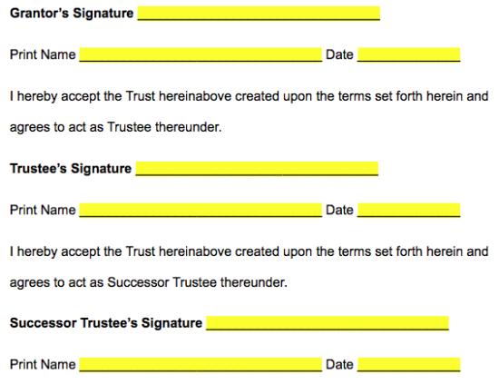 Free Missouri Revocable Living Trust Form - PDF   Word