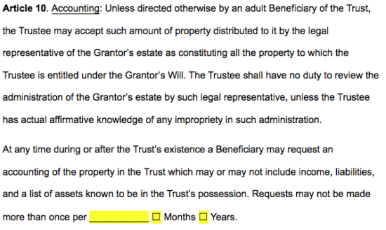 Free Texas Revocable Living Trust Form Pdf Word Eforms Free