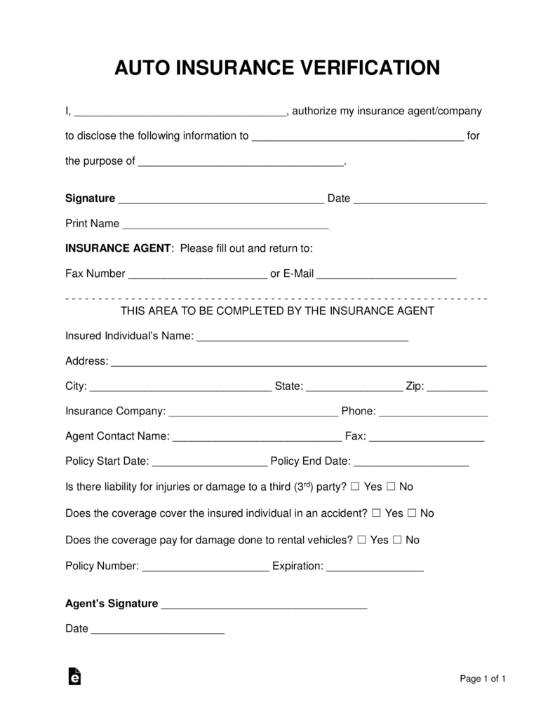 insurance verification form alabama insurance verification form - Bare.bearsbackyard.co