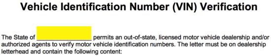 Free VIN Verification Form - PDF | Word | eForms – Free
