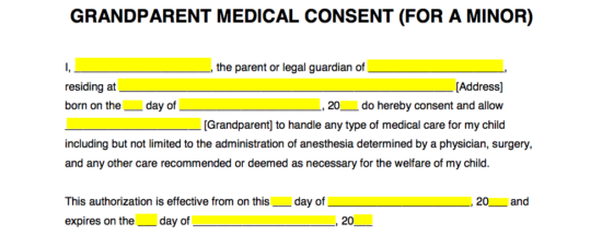 How To Write  Free Child Medical Consent Form