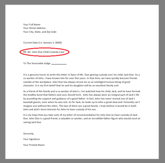 Personal Letter Of Recommendation Sample For A Friend from eforms.com