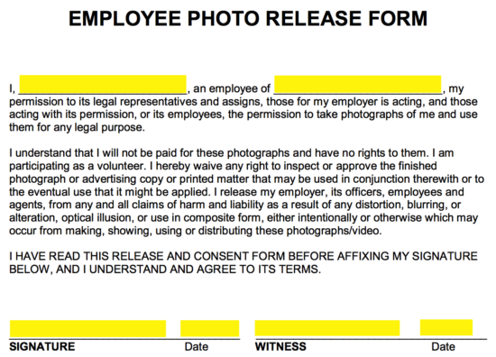 At The Bottom Of The Form, The Employee And One (1) Witness Must Give Their  Signature And Date Their Signing Of The Document.