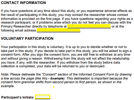 Free Research Informed Consent Form - PDF | Word | eForms – Free ...