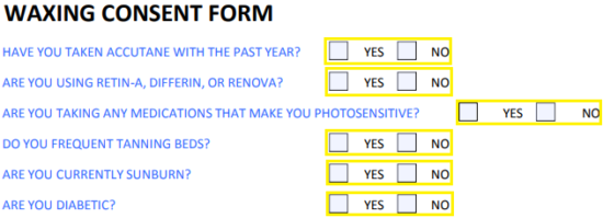 Free Waxing Consent Form - PDF | eForms – Free Fillable Forms