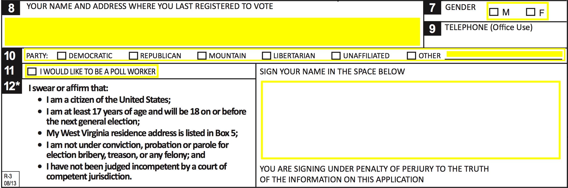 Free West Virginia Voter Registration Form - Register to