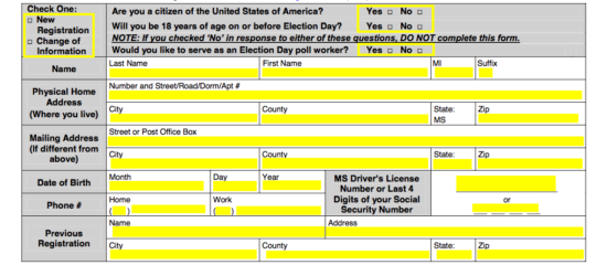 mississippi drivers license application form
