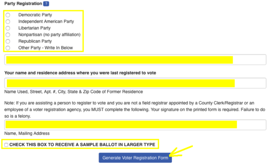 Nevada Voter Registration Form – Register to Vote in NV | eForms ...