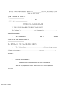 Free Pennsylvania Name Change Forms - How to Change Your