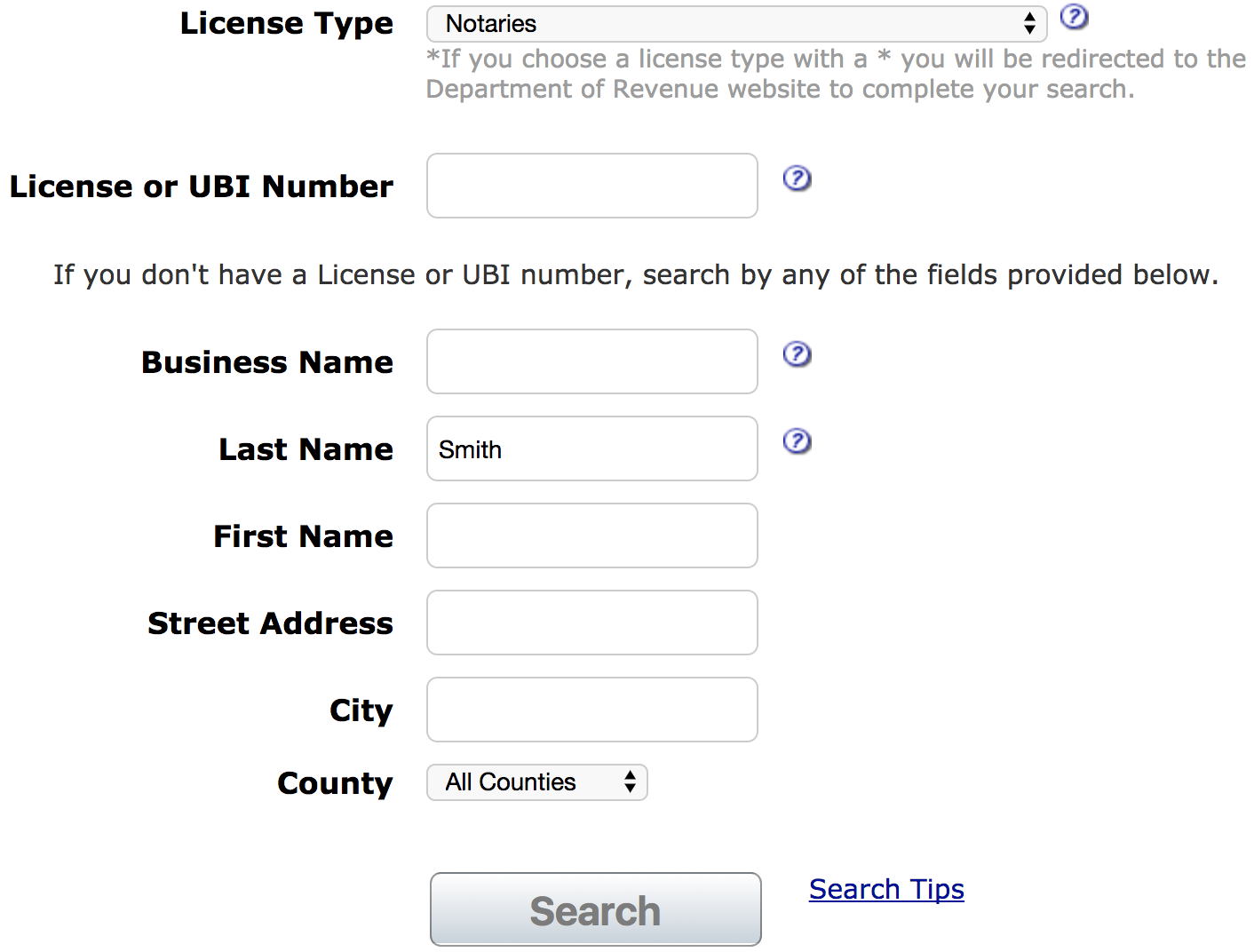 Scroll Through The List Of Notary Names And Select One 1 To Review More Information On Individual