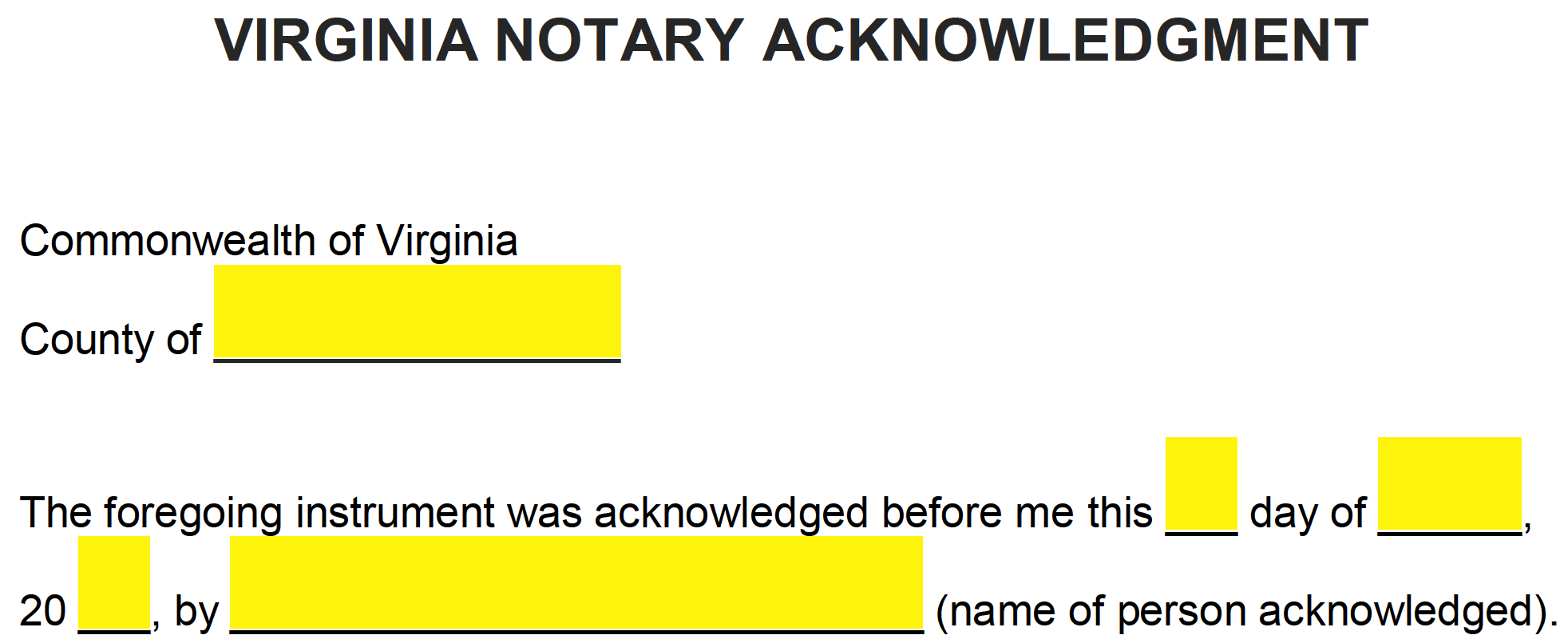 how to write for notary