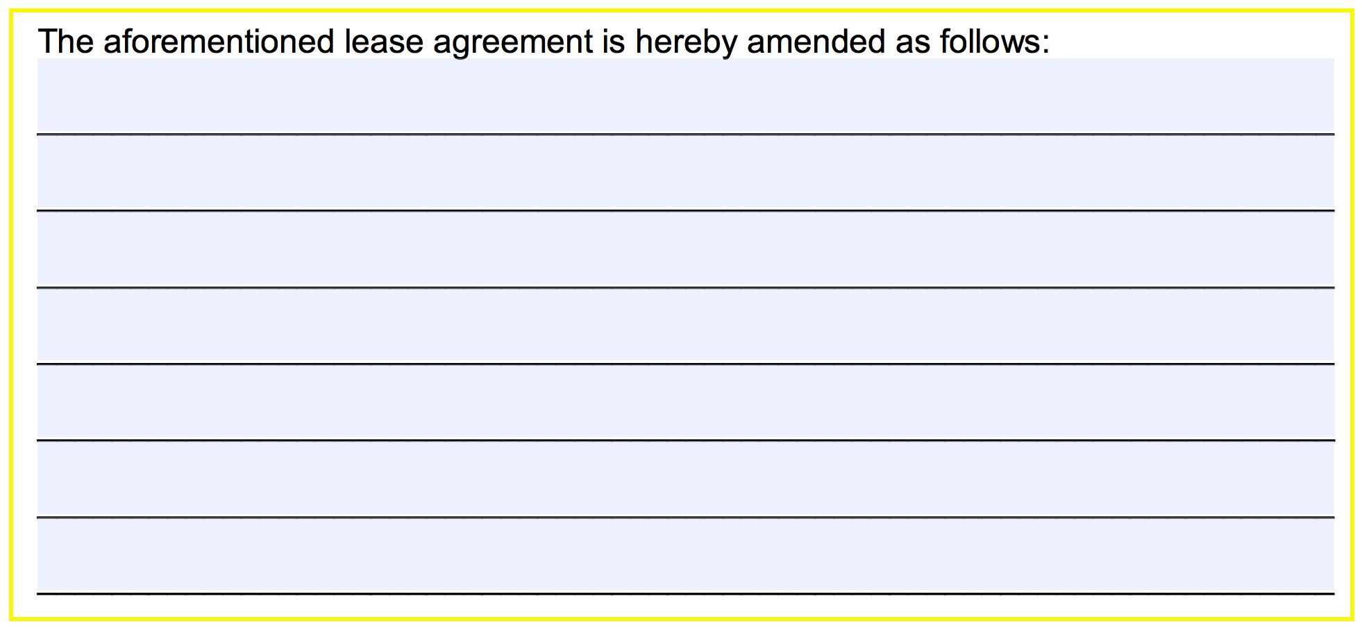 Addendum Sample Letter Agreement.Free Commercial Lease Addendum Template Pdf Word