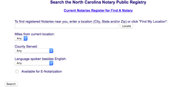 Step 3 Your Search Results Will Appear On A Map Below The Field With Each Notary Publics Information Displayed In Window To Right