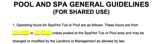 Free Swimming Pool And Spa Hot Tub Jacuzzi Lease Addendum Word Pdf Eforms Free