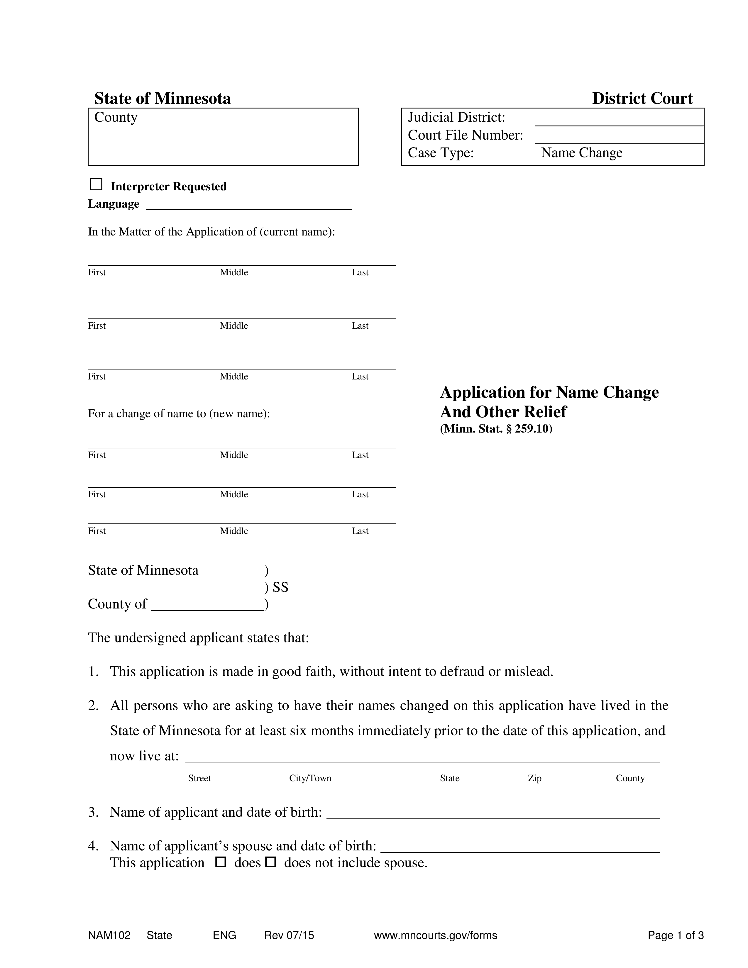 Good Faith Marriage Affidavit Letter Sample Pdf from eforms.com