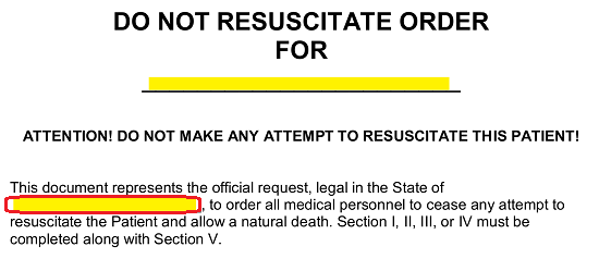 photo about Printable Do Not Resuscitate Form named Totally free Do Not Resuscitate (DNR) Get Kinds - Phrase PDF