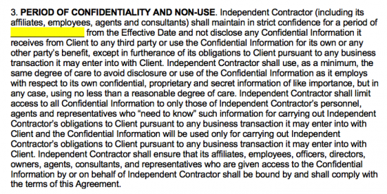 Independent Contractor Non Disclosure Agreement Nda Template Eforms Free Fillable Forms