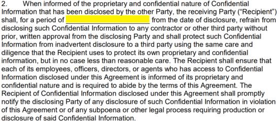 Mutual NonDisclosure Agreement NDA Template EForms Free - Bilateral nda template