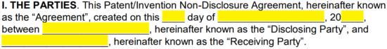 precautions while patenting disclosure non-disclosure pdf