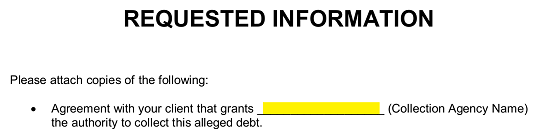 Letter To Creditor To Verify Debt from eforms.com
