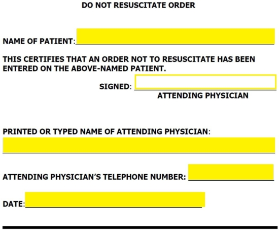 photograph regarding Printable Do Not Resuscitate Form named Totally free Ga Do Not Resuscitate (DNR) Buy Sort - PDF