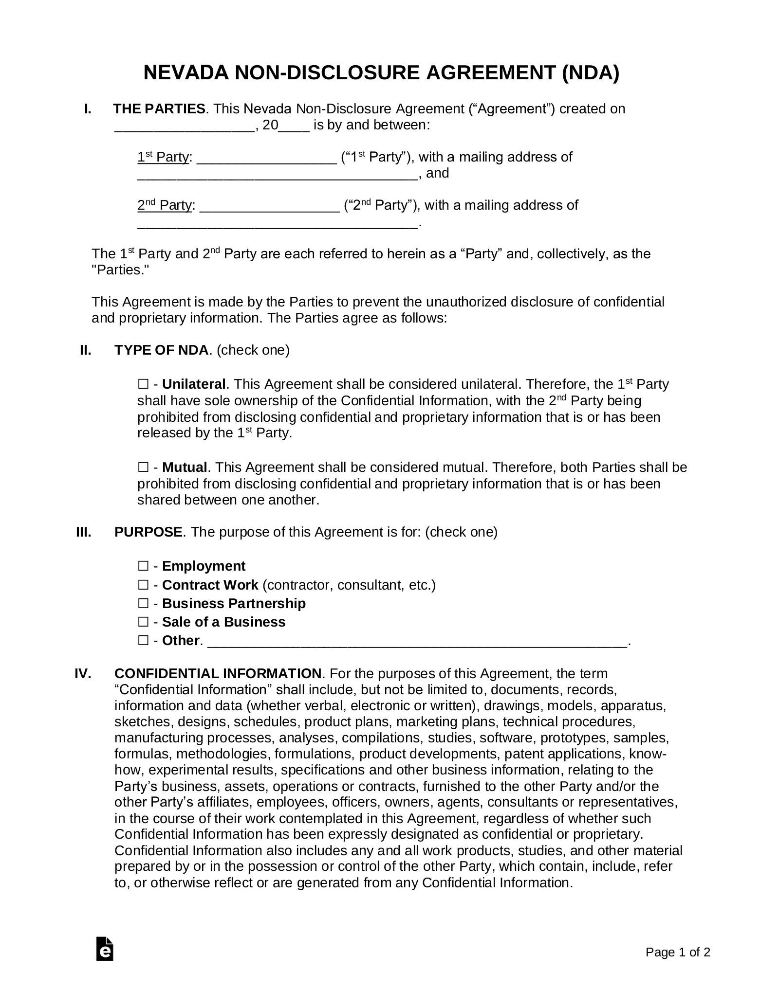 free non disclosure agreement template software programmer