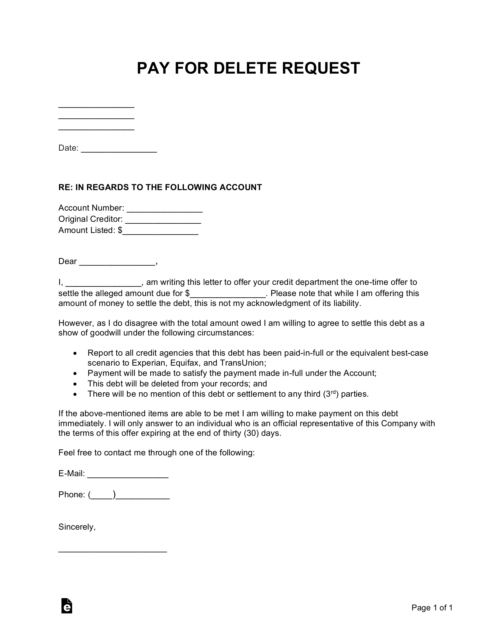 Goodwill Forgiveness Letter Template from eforms.com