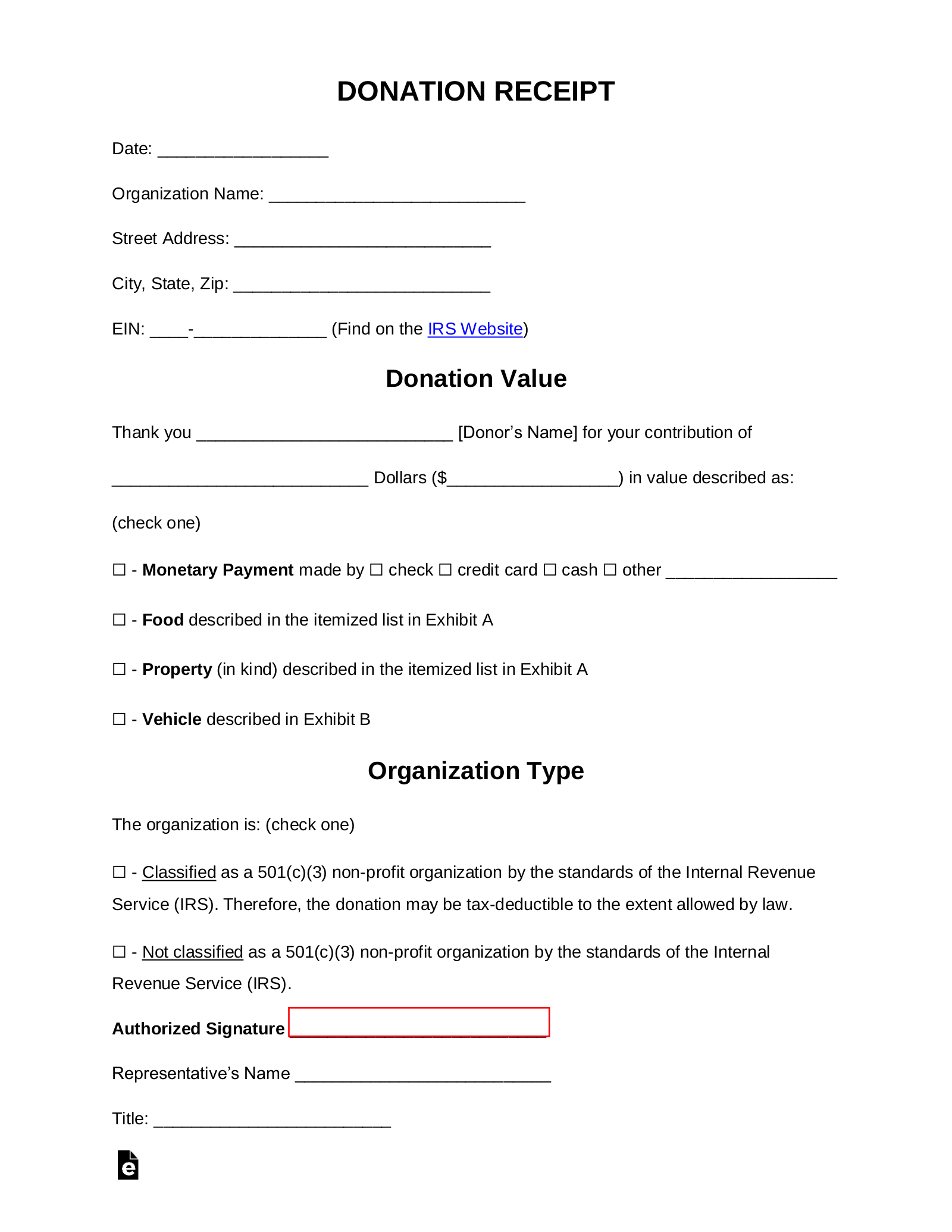 Free Donation Receipt Templates Samples Pdf Word Eforms