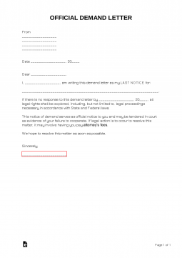 Offical-Demand-Letter-255x361  Day Demand Letter Template Texas on california dealership, for vehicle payment texas, template maryland, template return auto mobile, template steps, for stolen property texas, sample template property fl,