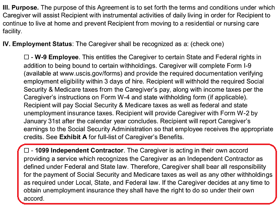 Free Caregiver Contract Agreement Pdf Word Eforms
