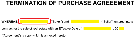 Free Termination Letter to Purchase Agreement - PDF | Word