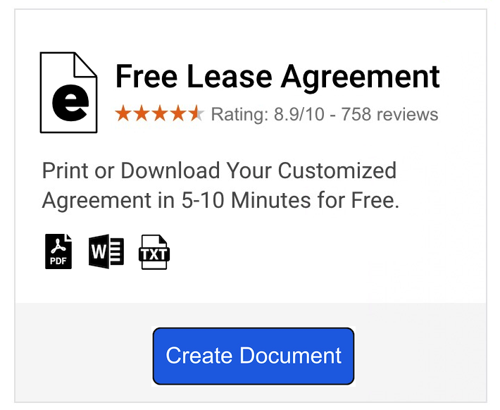 simple rental agreement template