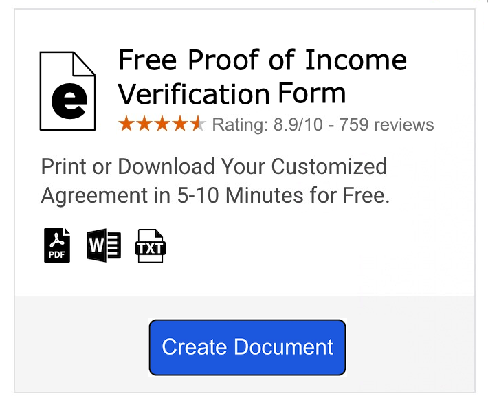 Income Verification Letter 7 Free Word Pdf Documents Download