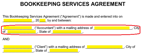 Free Bookkeeping (Accounting) Services Agreement - PDF