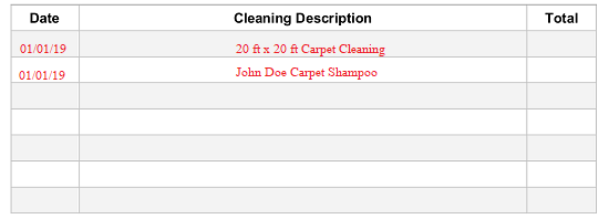 Free Carpet Cleaning Receipt Template - PDF | Word | eForms - Free Fillable Forms